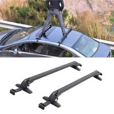 2x Aluminum Car Top Luggage Roof Rack Cross Bar Carrier Adjustable Window Frame