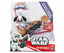 Playskool Heroes Star Wars Galactic Heroes Speeder Bike and Scout Trooper NIB