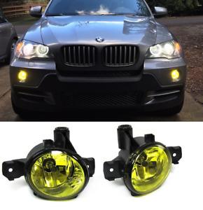 Pair foglamps foglights Fogs YELLOW Bmw X5 E70 & LCI X1 E84, X3 E83 E87 E81 E82