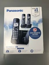 Panasonic Kx-Tgd513 Cordless Phone with 3 Handsets, Call Block, Black