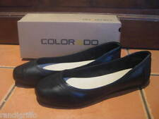 BRAND NEW! COLORADO black leather ballet flat casual work shoes SZ 6.5