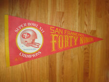 "1982 SAN FRANCISCO 49ers SUPER BOWL XVI Champions 30"" Pennant JOE MONTANA MVP"