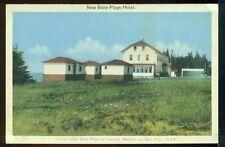 NEW BELLE PLAGE HOTEL Matane-sur-Mer Canadian Vintage Postcard