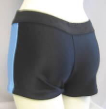 HEAVYWGHT BLACK+COLUMBIA BLUE SHORT-CHEER-DANCE COSTUME- Size M