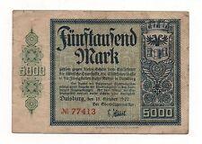 GERMANY DUISBURG 5000 MARK 1922 NOTGELD EMERGENCY MONEY LOOK SCANS