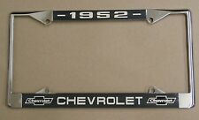 52 1952 Chevy car truck Chrome license plate frame