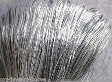 100M Silver Card Craft Gift Cord String Christmas Gift Tag Thread Bauble Decor