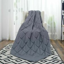 """76""""x80"""" King Size Weighted Blanket Reduce Anxiety Stress Better Deep Sleep 15lbs"""