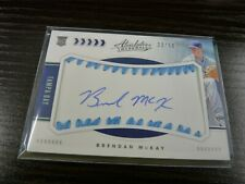 2020 PANINI ABSOLUTE BRENDAN McKAY  AUTO BASEBALL ROOKIE CARD /50 TAMPA BAY