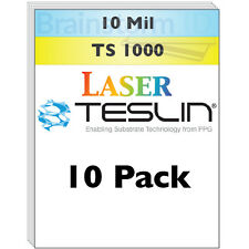 Laser Teslin Synthetic Paper (TS1000) For Making PVC-Like ID Cards - 10 Sheets