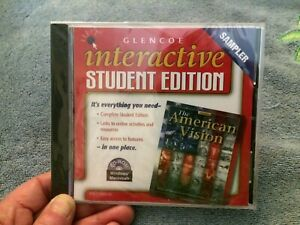 NEW Glencoe Interactive Student Edition The American Vision CD ROM