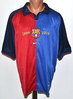 BARCELONA SPAIN 1999/2000 CENTENARY HOME FOOTBALL SHIRT JERSEY NIKE SIZE L ADULT