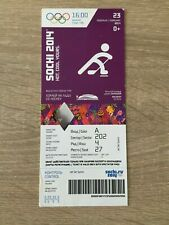 SIDNEY CROSBY 2014 SOCHI OLYMPICS GOLD MEDAL GAME TICKET