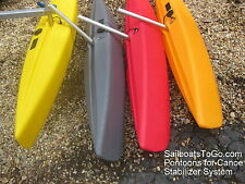Canoe Stabilizer Float and/or Arm -  Just one - For DIY Projects. Streamlned!