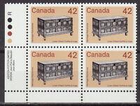 CANADA #1081 42¢ Artifact - Linen Chest LL Inscription Block MNH