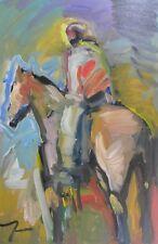 JOSE TRUJILLO Oil Painting PORTRAIT IMPRESSIONIST HORSEMAN COLLECTIBLE PIECE LG