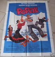 AFFICHE DE CINÉMA 160 x 120 cm - POPEYE - Robin Williams - ANNÉE 1981