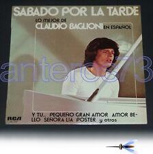 """CLAUDIO BAGLIONI """"LO MEJOR DE"""" RARO LP IN SPAGNOLO"""