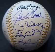 Autographed Gold Glove Winners Baseball Rawlings Gold Glove OMLB (15 Signatures)