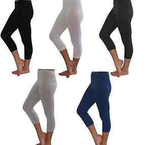 Cotton Cropped 3/4 Length Leggings All Sizes
