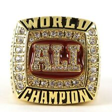 Muhammad Ali 1964,1974,1978 Boxing Championship Ring 24K GOLD PLATED SIZE 10