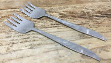 Hollywood Japan 2 Salad Forks Harp Flare Tines Mid Century Modern Stainless MOD