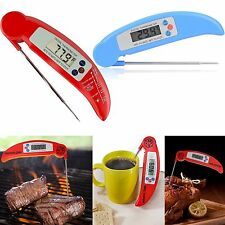 BBQ Meat Instant Read Folding Digital LCD Cooking Food Kitchen Probe Thermometer