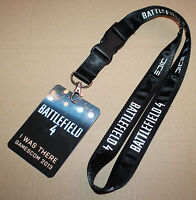 """Battlefield 4 """"I was there"""" Lanyard with Card from Gamescom 2013 very rare"""