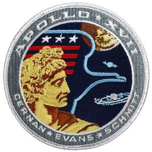 Official NASA Apollo 17 Mission Patch, Cernan, Evans, Schmitt