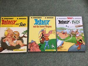 Asterix the Gaul, 3 hardback comic books. Unmarked published 1984, 1991 & 2013.