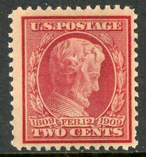 USA 1909 Lincoln BLUE PAPER 2¢ Scott #369 MNH C141
