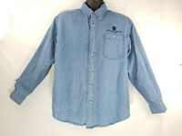 Caesar's Palace Las Vegas Casino Denim Button Front Shirt Medium Long Sleeve