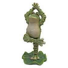 Dancing In The Creek Clap Hands Frog Garden Pond Pool Ribbit Statue
