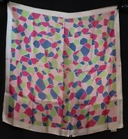 1950's Geometric Silk Scarf by Echo for B. Altman (30 x 30)