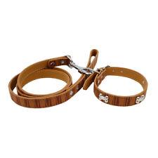 Safari Brown Dog Collar and Leash Combo Matching Set Medium
