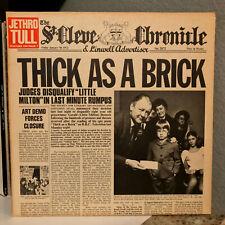 "JETHRO TULL - Thick As A Brick (Newspaper Sleeve) - 12"" Vinyl Record LP - VG"