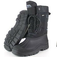 TRESPASS MENS BLACK THERMAL WINTER APRES SNOW BOOTS SIZE 7 8 9 10 11 12 uk