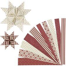 Danish Moravian Christmas paper star strips kit - stjernestrimmler - classic red