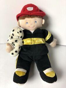 """Baby Gund Flynn 58647 Fireman Plush Doll With Dalmatian 11"""""""