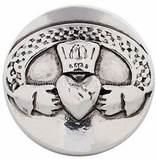 Silver Irish Wedding Crown Heart 20mm Snap Interchangeable For Ginger Snaps