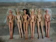 Lot Of 6 Articulated Jointed Barbie Dolls Play Or OOAK Nude