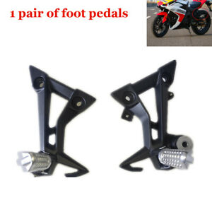 2 × Motorcycle ATV Bike Rear Foot Pegs Rest Pedal Pads Bracket Refit Shift Lever