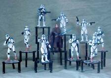 90 Piece Display Stand for Action Figures, Diecast Vehicles, and Other Toys