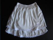 Anthropologie Mini Skirt New Size Large White Tulip Lace Boho Country Western