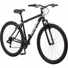 "Mongoose Mens Mountain Bike 29"" Big Tall Black bicycle steel frame 21 speed NEW"