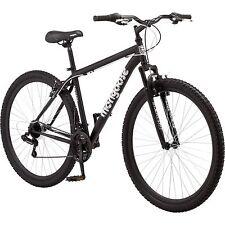 "Mongoose Mens Mountain Bike 29"" Big Tall Black bicycle steel frame 21 speed NEW"