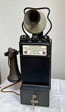"Gray Pay Station Telephone - ""Wanamaker"" Model 24 Payphone"