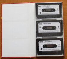 VINTAGE K7 audio ✤ L'ESPAGNOL pour tous ✤  Coffret 3 Cassettes audio