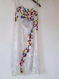 Retro Sequin Dress Retro 60s Style Crochet Large Sequin Dress Freesize Vintage Clothing Vintage Dresses Vintage Dress