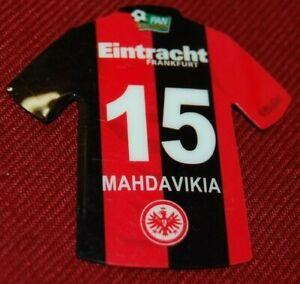 Eintracht Frankfurt Kühlschrankmagnet MAHDAVIKIA Nr.15 als Tricooberteil, II